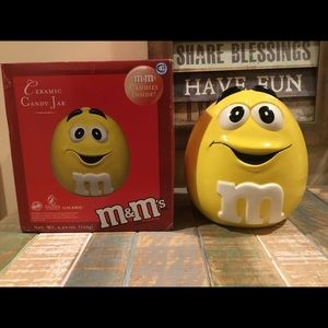 2003 Yellow M&M Cookie Jar